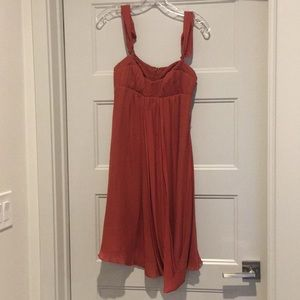 Nicole Miller rust colored cocktail dress